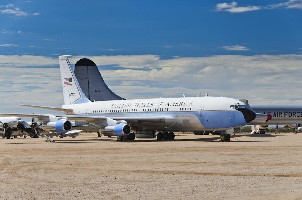 Het voormalige vliegtuig van ex vice-president Al Gore